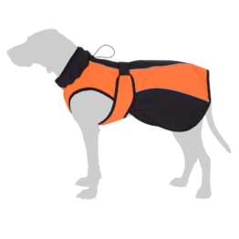 Smartpet Softshell-Hundemantel orange - ca. 70 cm Rückenlänge