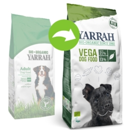 Yarrah Bio Vegetarisches / Veganes Hundefutter - 10 kg Vega (optimierte Rezeptur)