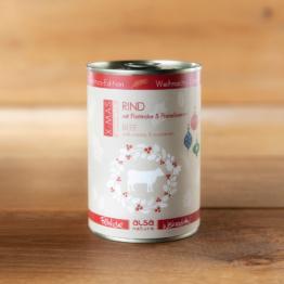 alsa-nature Dosen-Menüs Weihnachts-Edition Rind mit Pastinake & Preiselbeeren, 12 x 400 g