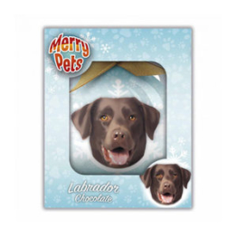 Merry Pets Christbaumkugel Hund - Labrador (Chocolate)