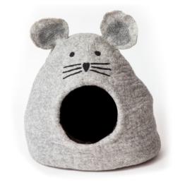 Kuschelhöhle dharma dog karma cat Grey Mouse - L 32 x B 43 x H 42 cm - hellgrau