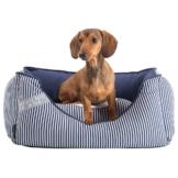 HUNTER Hundebett Midlum blau-weiß, Gr. 1