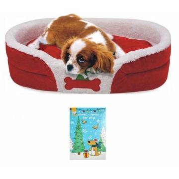 HEIM Hundebett »Weihnachtsset Hund«, BxL: 72x52 cm, rot, rot