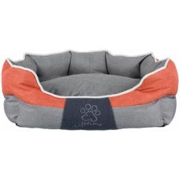 TRIXIE Hundebett und Katzenbett »Joris«, BxT: 75x60 cm, grau/orange, grau/orange