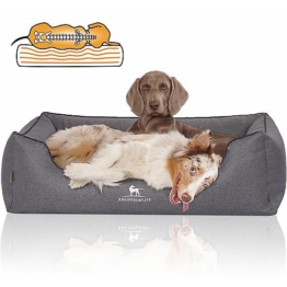 Knuffelwuff Tierbett »Hundebett Wippo«, Orthopädisch, graublau
